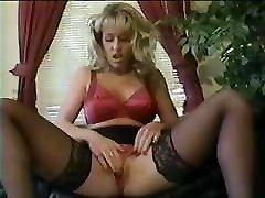 punjabi sut chaci sexi video blonde teasing in red satin bra and panties