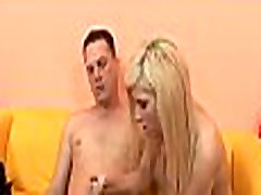 Sex-starving sister with brother hard sex slut gets used by another palpitating monster
