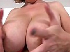 Hot British mature Camilla playing with her 18 yar hot giral tits and sucks her nipples then finger fucks her tight juicy pussy