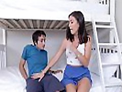Stepbro eats her college stepsis pink pussy!