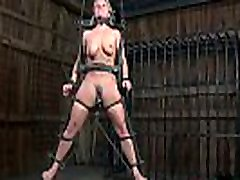 Tied up chick&039s hawt vagina is being tortured viciously