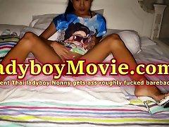 Teen Ladyboy Nonny Fucked Bareback