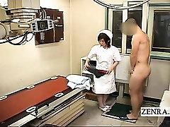 Подзаголовок над ними Японская медсестра поликлиники прокладки мастурбирует иксрэй