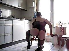 mild fat blonde doggystyle spanking