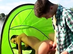 Hardcore bdsm xxx Eveline getting pounded on camping site