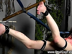 Gay clip of The skimpy twink is hanging there with his culo