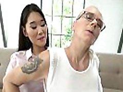 Asian dyke Katana eats tube porn piging pussy before rimming
