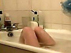 Cute husband pornflexi caught in bath