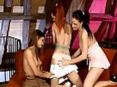 Three horny girls lick love tunnels and assholes of each other