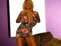 Lana Lotts stripping off her HOT sheer pink panties