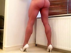 Bare legs , ass and cock.