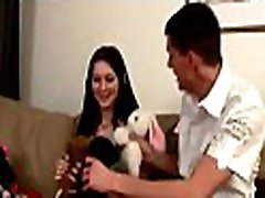 Lovely girl gets fucked unfathomable and enjoys this ariella ferrera milf foursome action