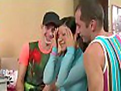 Pleasant darling is pleasuring fellows with her cunt and mouth