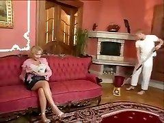 Hairy old chuby grandma likes young cock