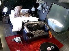 Spy Cam Middle-aged bear opening room