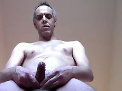 CUM WITH COCK AND HAIRY BODY - Solo naked man mature amateur