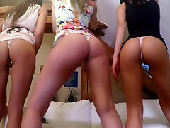 Wedgie Queens House Party, tiniest thongs, camel toe panty madness 4K 60FPS