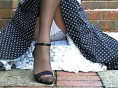 Retro 1950&039;s Dress And Stockings