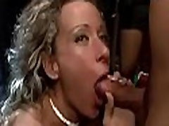 Cougar blackmailed by ebony step sister party