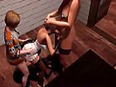 Son and Shemale Mom fuck a girl in a cafe - Crazy Family Stories. 3D Futa Group Porn Video.