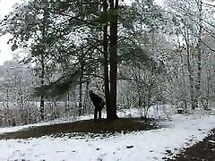Dildo in the snow