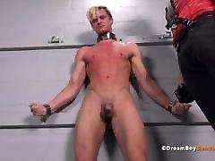 Young Blonde High School Jock Disciplined BDSM Gay Bondage