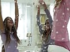 Pillow fight and lesbian anal sex
