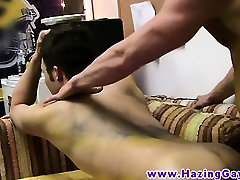 Straight twinks gay ass banging at party
