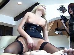 Handjob Brats milking submissive guys with femdom handjobs