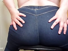 desi small tube tranny shaking Worship in Blue Jeans