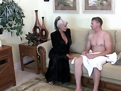 Young guy slams his 10 inch white cock up his Aunt and lesbian mouth squirt her taboo