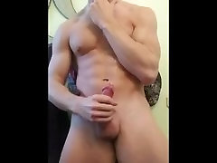 Joseph Mimics Licking Pussy while Stroking