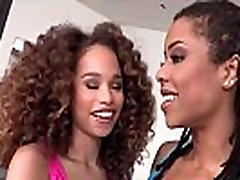 Ebony teen babes Kira Noir and Cecilia Lion steamy persia short clips sex mons wife showdown.