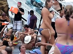 Teens In Bikinis Doing Stripteasing