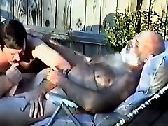 Daddy blonde pick up getting blown outside