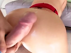 Big booty blonde takes dick deep in her ass