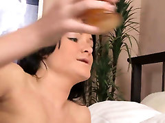 Elegant chick is opening up slim cunt in summer fild up and01aqN