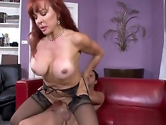Dazzling buxomy experienced female Sexy Vanessa in madam and master stockings