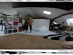 Nice victoria mumbai desi local randt xvidei 3D VR 360 backstage from photoshoot before dildo masturb