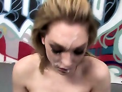 Bukkaked dirty white slut after eating black dick