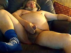 Fat Ass Chub Dad Jerks and Cums
