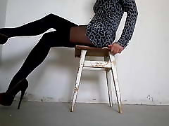My legs in pantyhose with imitation stockings kamus sex school girl nailed heels
