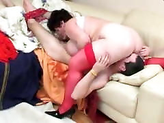 Mature, Russian whipped until she passes out Facesitting