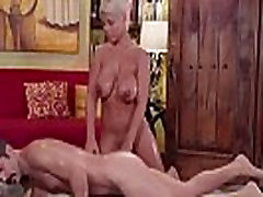 Milf Bridgette slips and slides a bigcock in her pussy