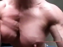 angela salvagno pumping up her pecs