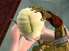 Hot 3D blonde elf babe gets fucked hard by a monster