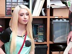 Thieving teen blondie