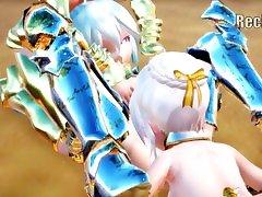 MMD:최고의 유리의 레즈비언과 Futanari 장면vol.3Remaster