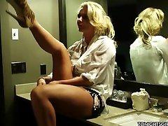 Lovable blonde honey teen fidekity Marie getting nailed in a hotel room