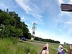 Outdoors, Public Fitness in Shortest Skirts on a windy day, outside, with many xxx using video xxx and asses exhibitions